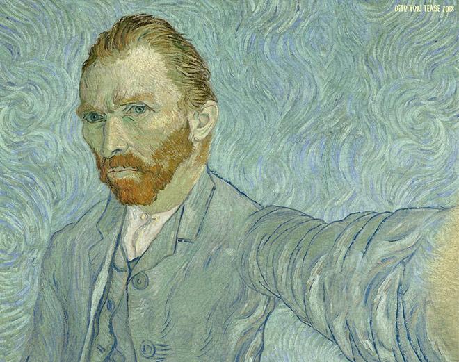 Vincent Van Gogh selfie.
