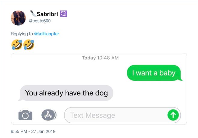 Isn't the dog enough?