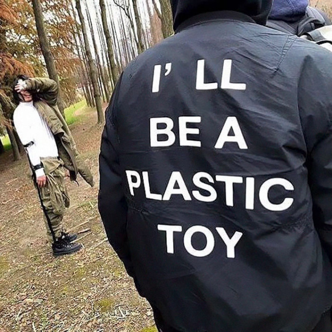 I'll be a plastic toy.
