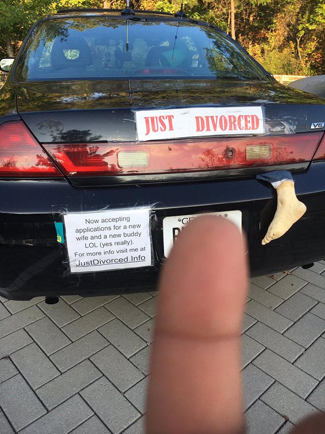 Just divorced.