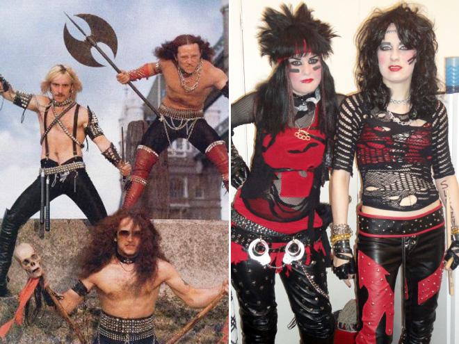 Weird metal band photos.