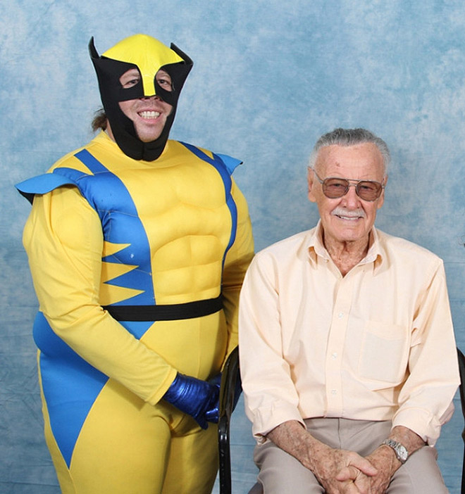 Funny Wolverine cosplay fail.