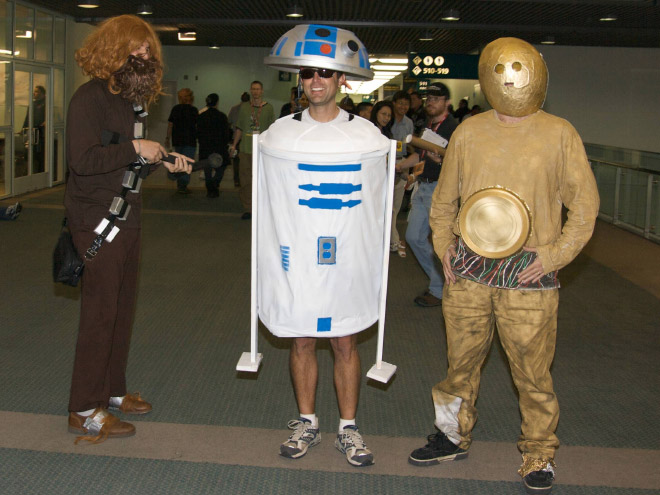 Star Wars cosplay fail.