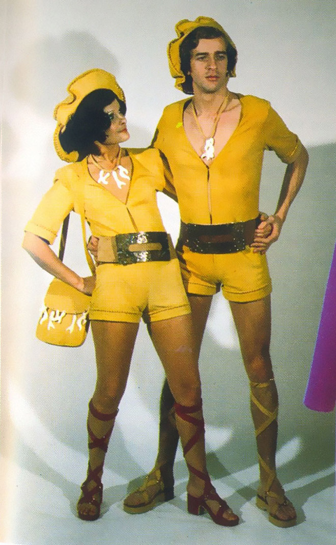 Funny matching outfits from 1970s fashion ads.