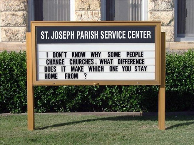 I don't know why some people keep changing churches...