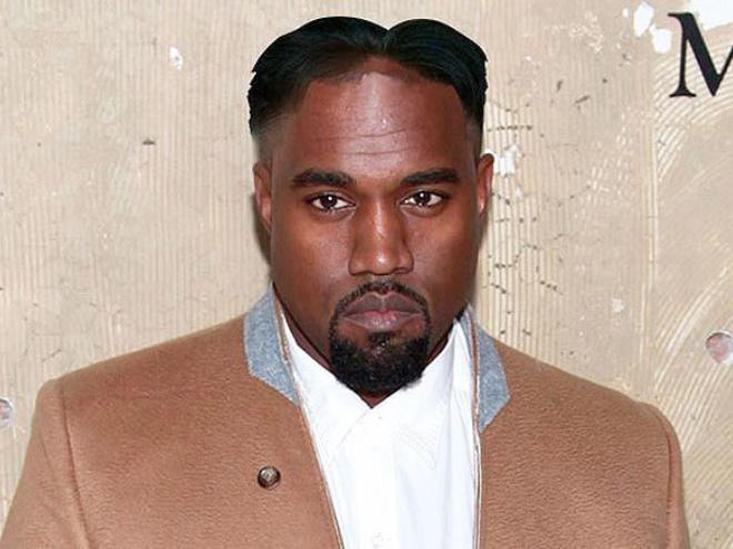 Kanye with Kim Jong-Un hairstyle.