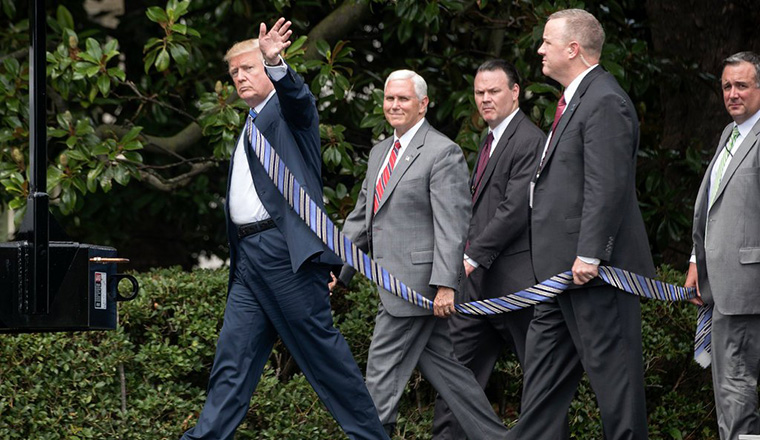 People Are Making Trump Photos With Extremely Long Ties To Annoy The President