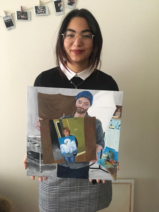 A painting of a painting of a painting.