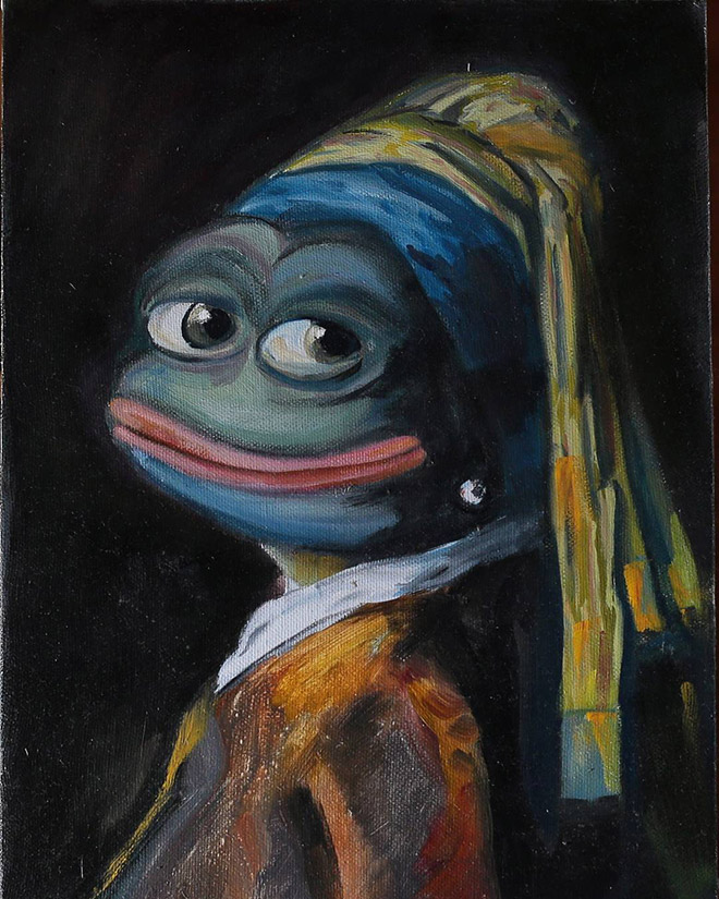 Pepe The Frog painting by Pepelangelo.