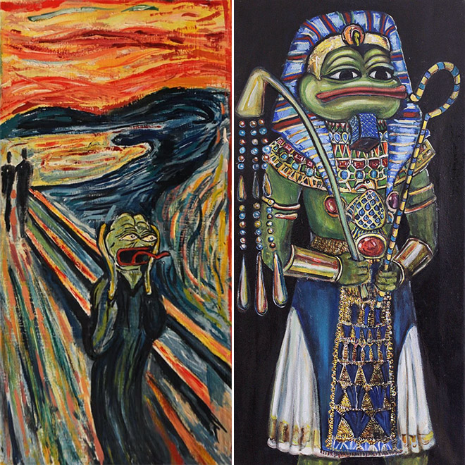Pepe The Frog paintings.