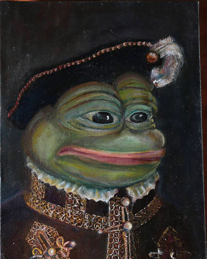 Pepe The Frog painting.