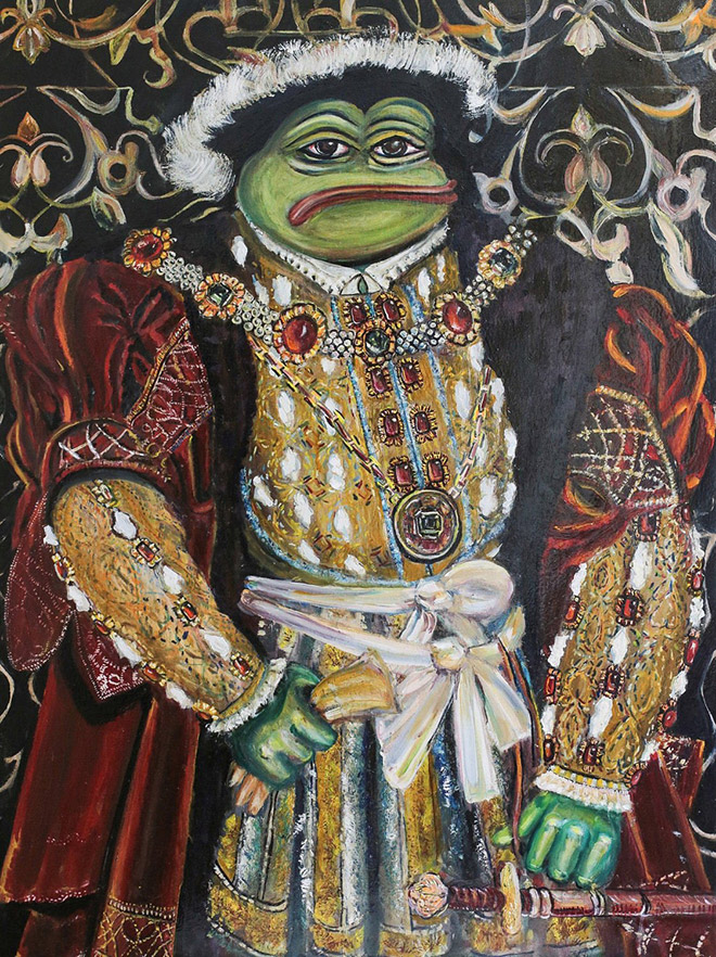 Pepe The Frog as Pepe Henry VIII.