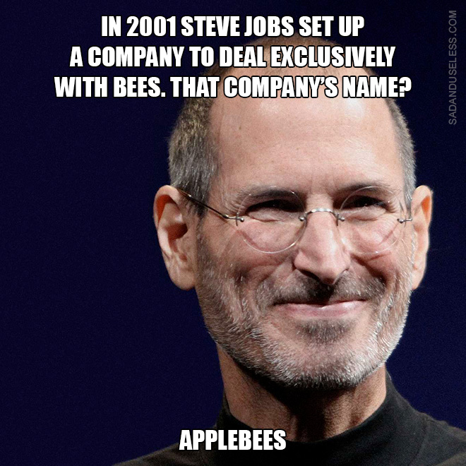 Little known fact about Steve Jobs.