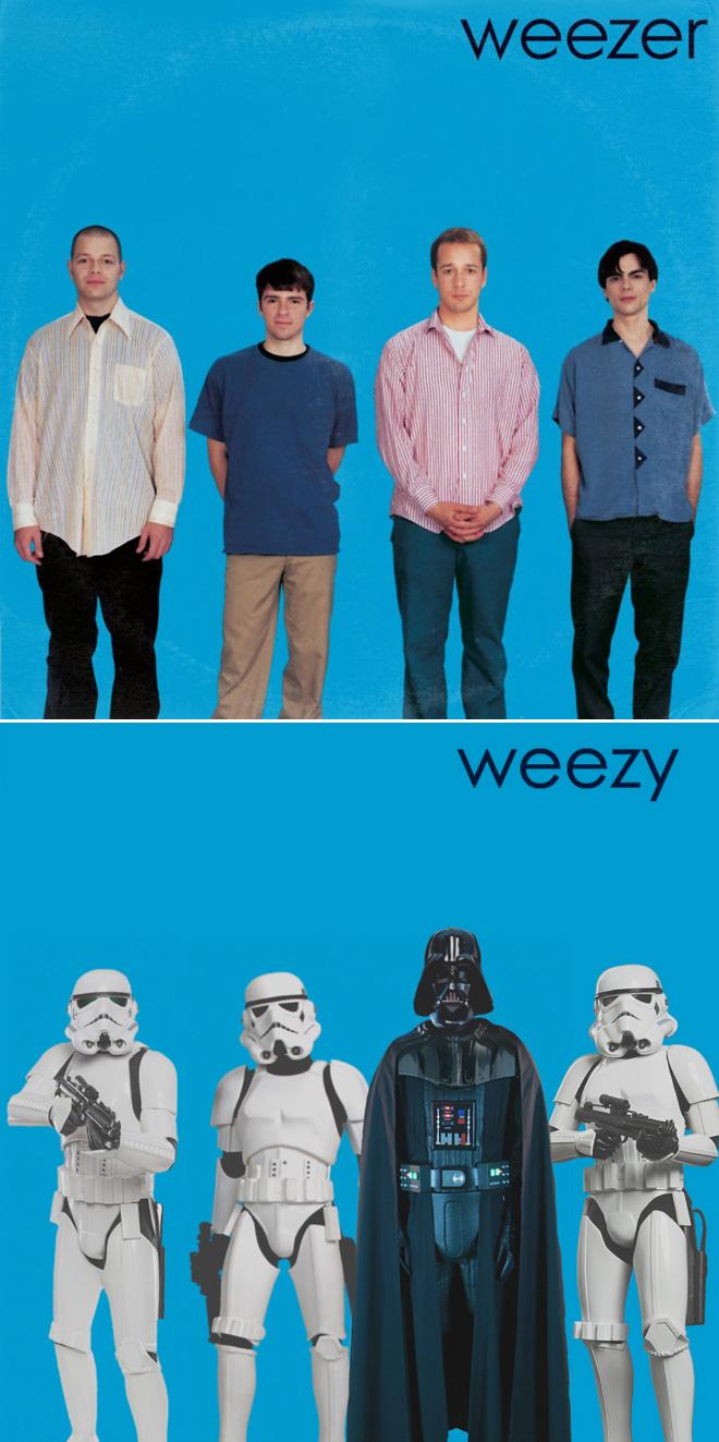 Weezer and Star Wars mashup.