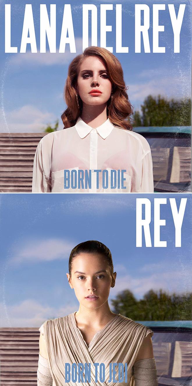 Lana Del Ray and Star Wars mashup.