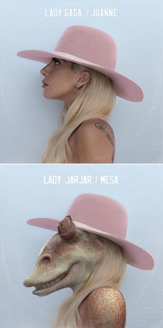 Lady Gaga and Star Wars mashup.