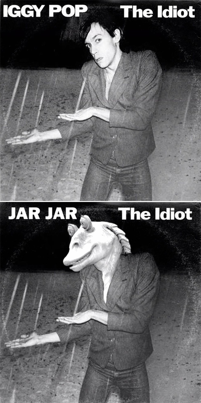 Iggy Pop and Star Wars mashup.