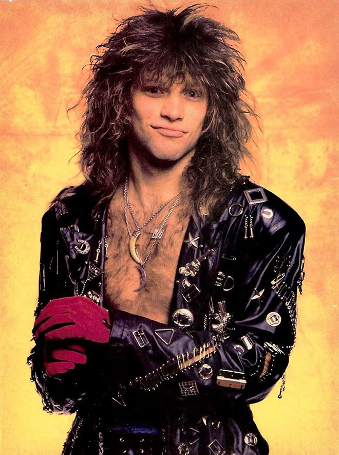 Bon Jovi really loved wearing ridiculous outfits in 1980s...