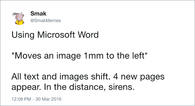The Microsoft Word experience.
