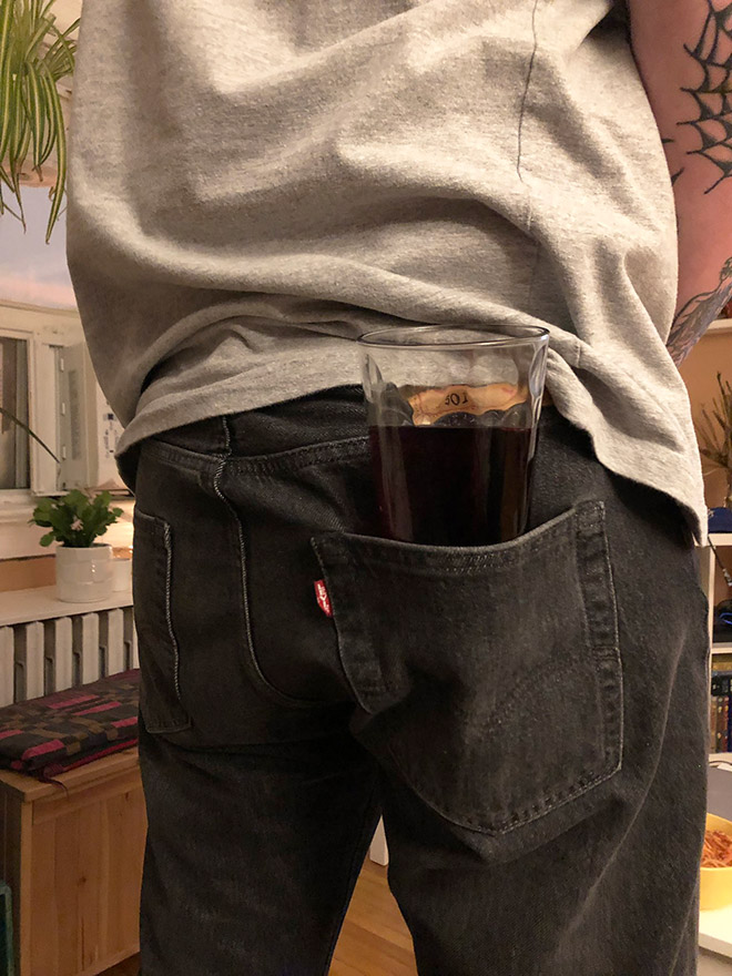 Is this the worst way to hold a drink?