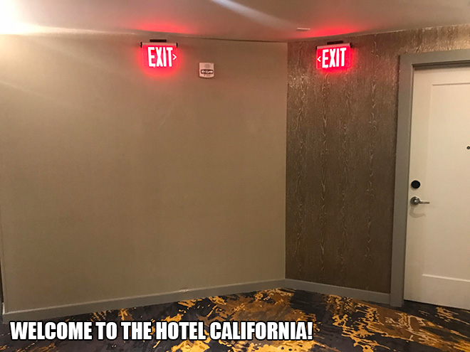 Welcome to the Hotel California!
