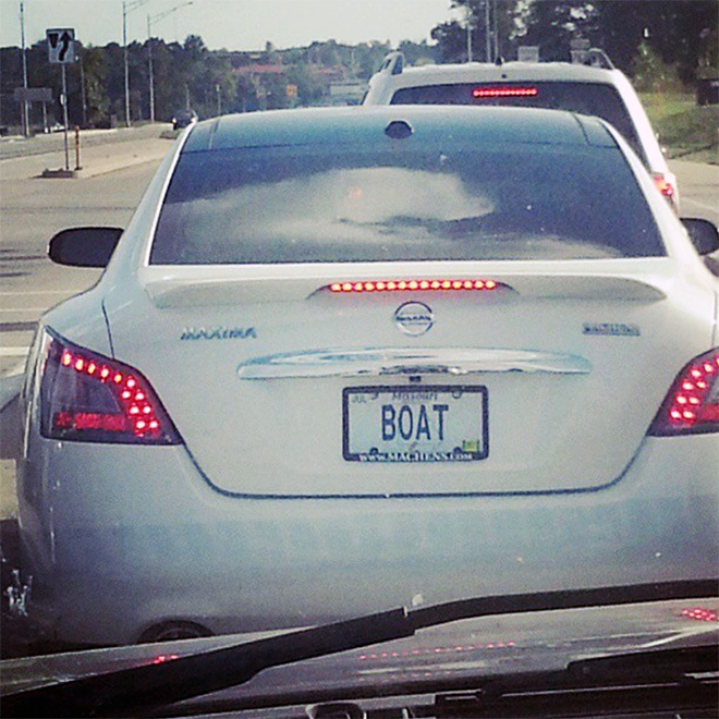 Funny licence plate.