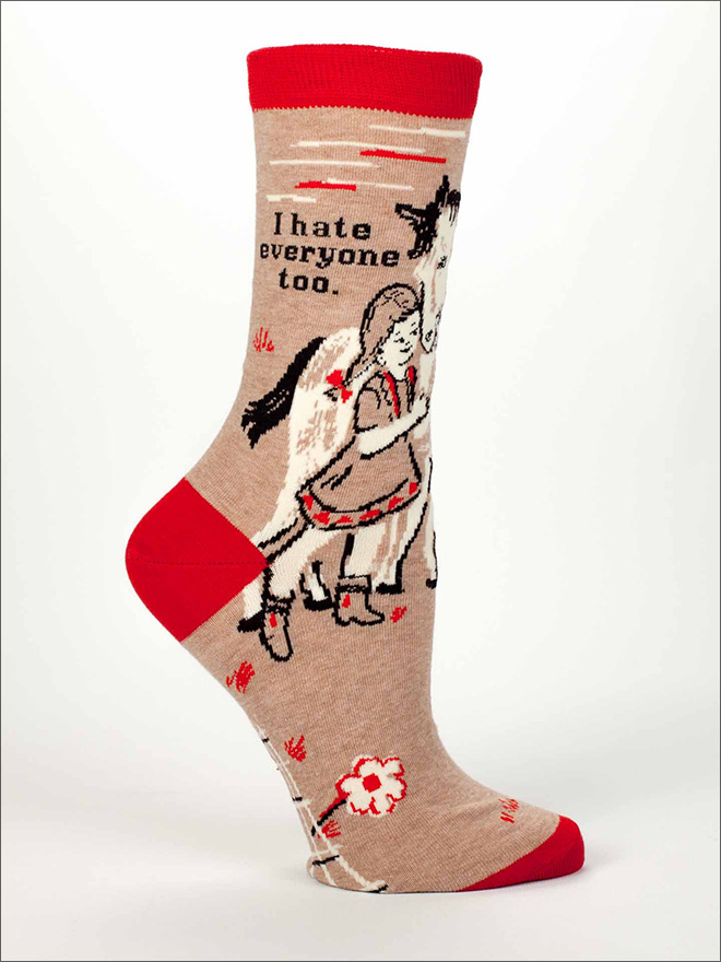 Funny socks with a beautiful message.