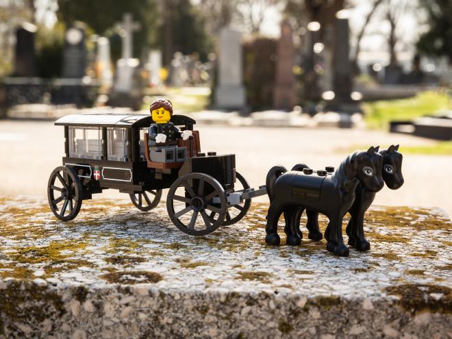 LEGO cemetery. Isn't it cute?