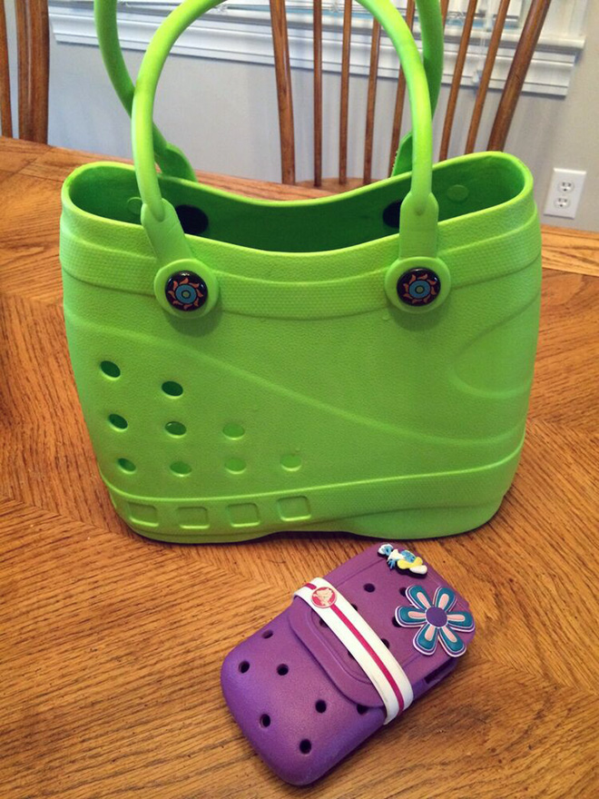 Crocs handbag: a truly horrible crime against fashion.
