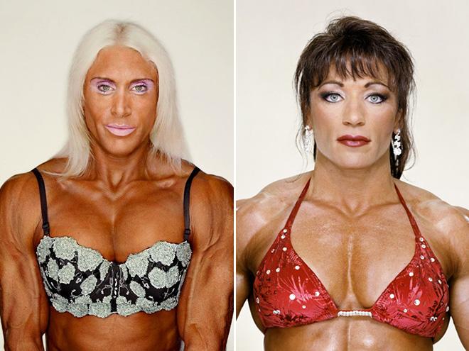 Female bodybuilders.