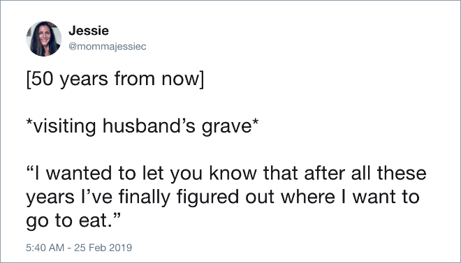 Brilliant tweet about married life.