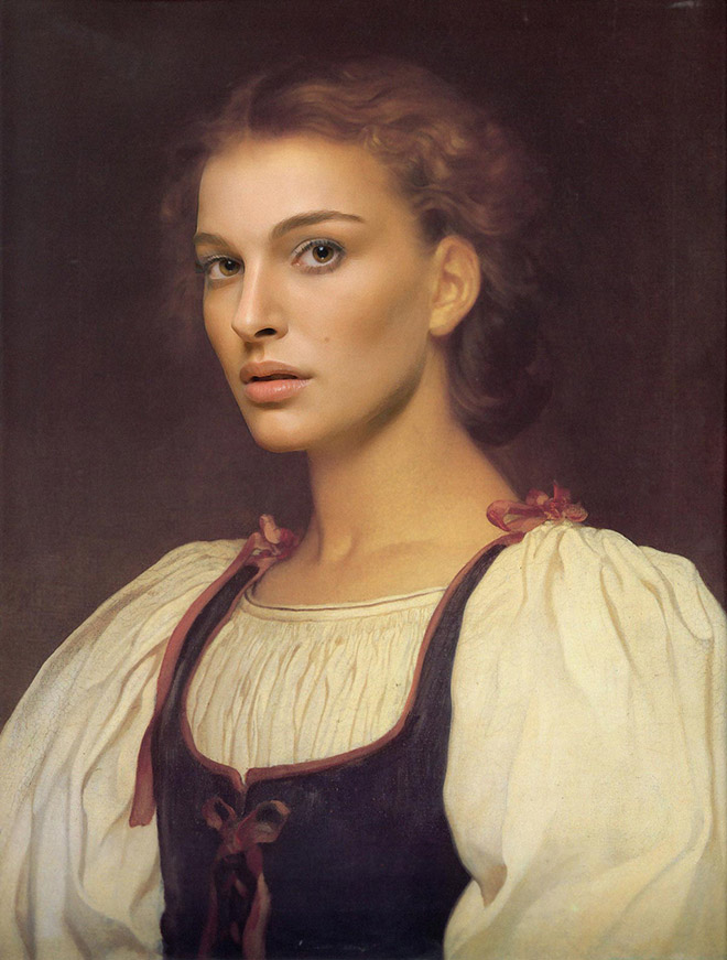 When Renaissance painting meets modern celebrity...