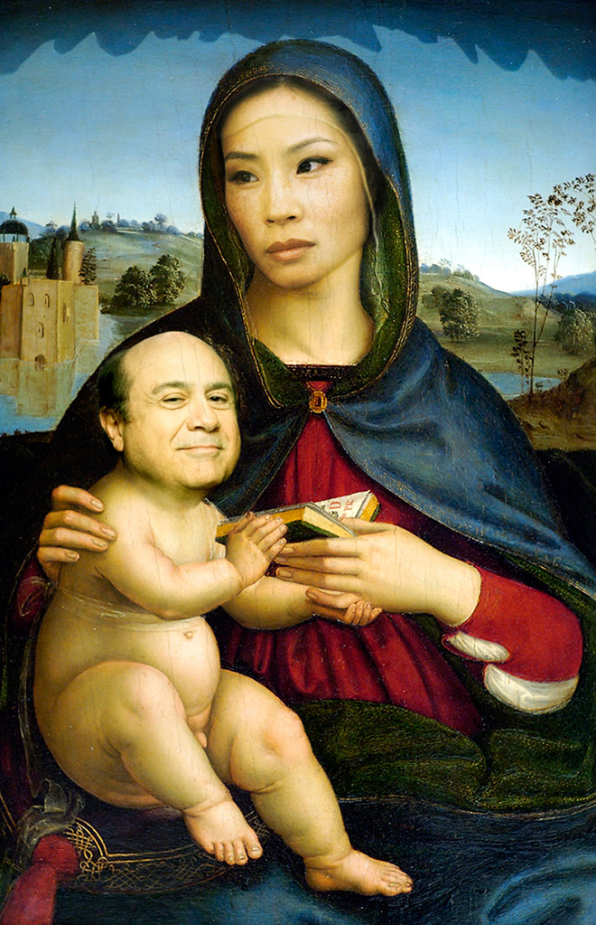 When Renaissance painting meets modern celebrities...