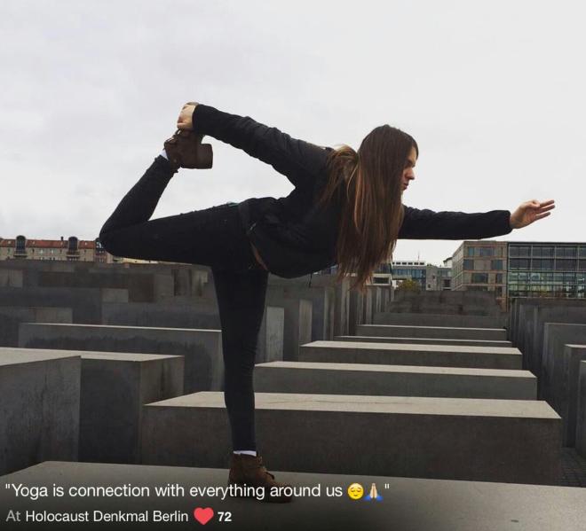 When selfie culture generation visits Berlin Holocaust Memorial...