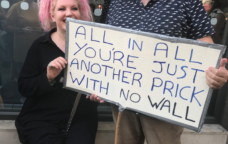 The Funniest Protest Signs From Trump's Visit To The UK