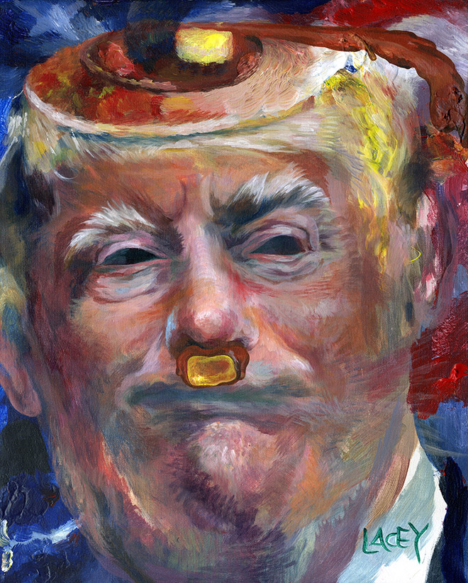 Funny painting by Dan Lacey.