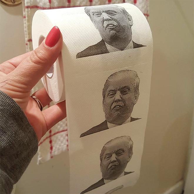 Donald Trump toilet paper.