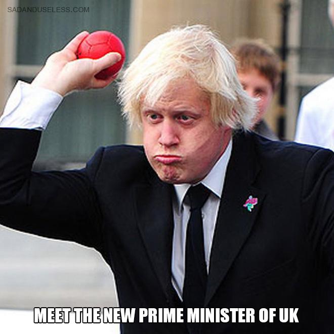 Funny Boris Johnson meme.