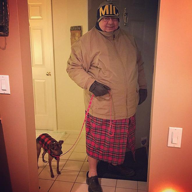 Fashionable dad.