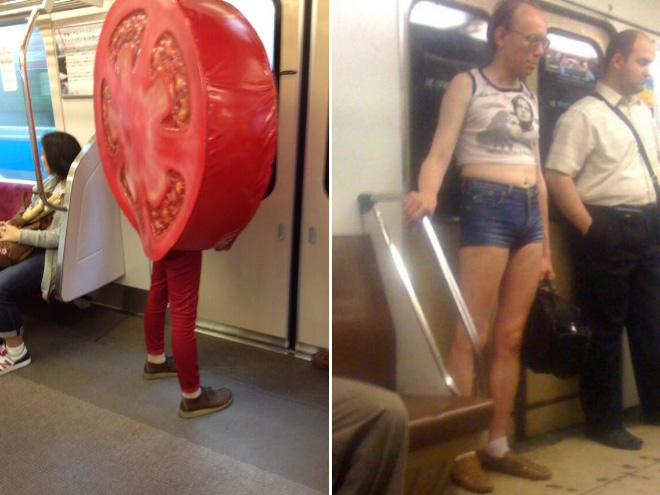 Subway is a strange place...