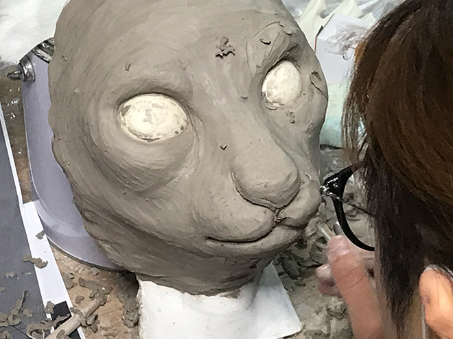 The making of realistic cat mask.