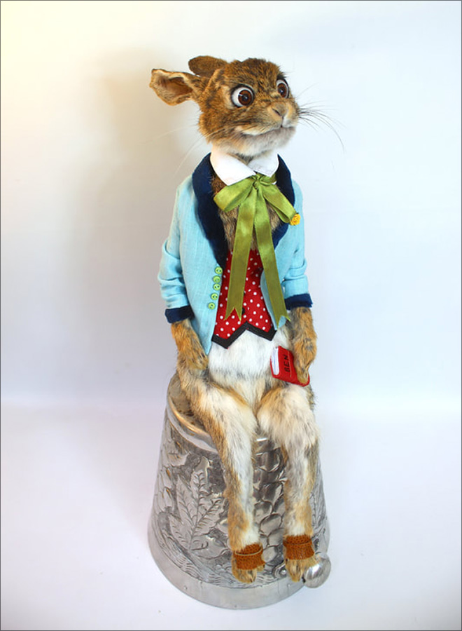 Awkward taxidermy by Adele Morse.