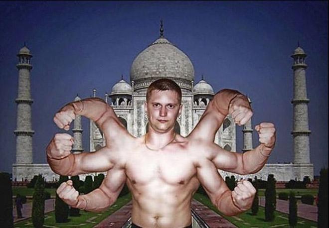 Pure photoshopping craziness.