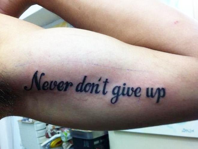 Tattoo spelling fail.