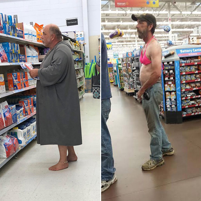 Walmart Fashion: The Craziest Outfits Spotted at Walmart Outrageous Outfits On Walmart Shoppers