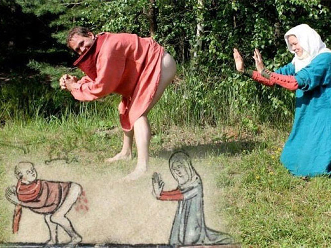 Recreation of a medieval drawing.