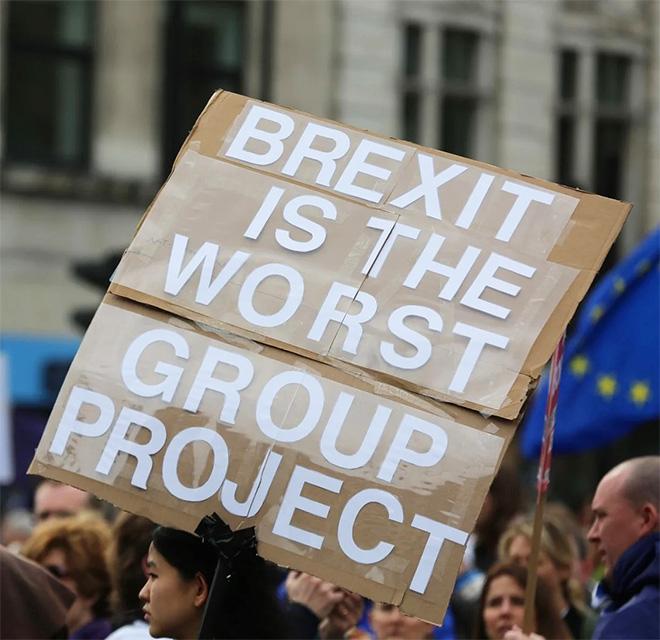 Funny pro-EU sign.