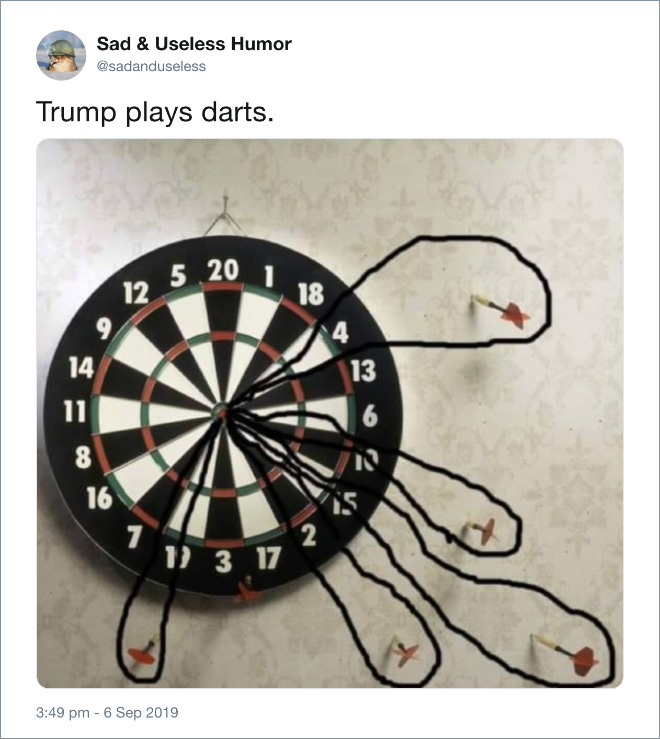 Trump plays cards.