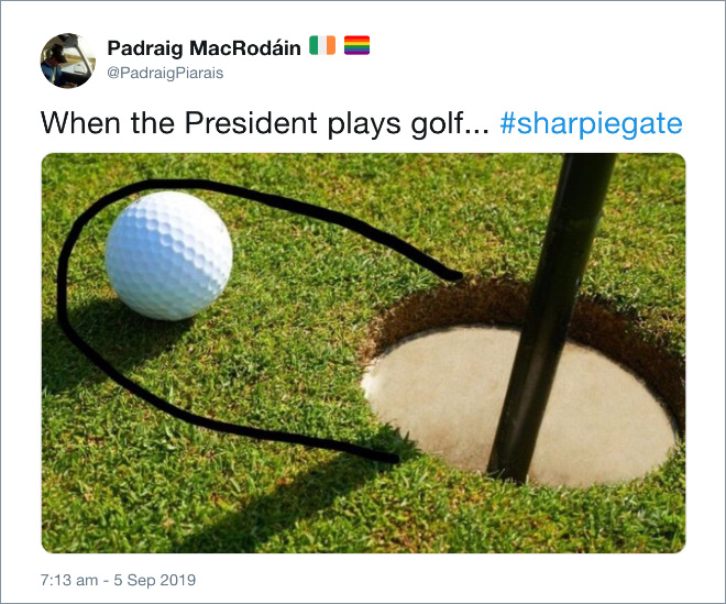 When the President plays golf...