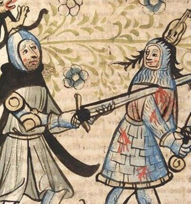 Cheerful medieval art.